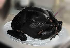 Overcooked turkey